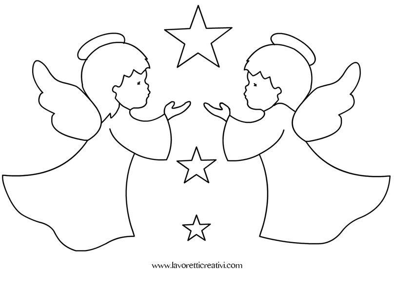 Angeli Di Natale Disegni.Decorazioni Natale Fai Da Te Decorazioni Di Natale Angeli Di Natale Natale Artigianato
