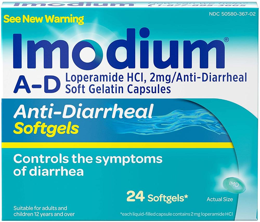 Amazon Com Imodium A D Anti Diarrheal Softgels With Loperamide Hydrochloride Diarrhea Relief Medicine 24 Ct Health Personal Care Capsule Oral Medicine