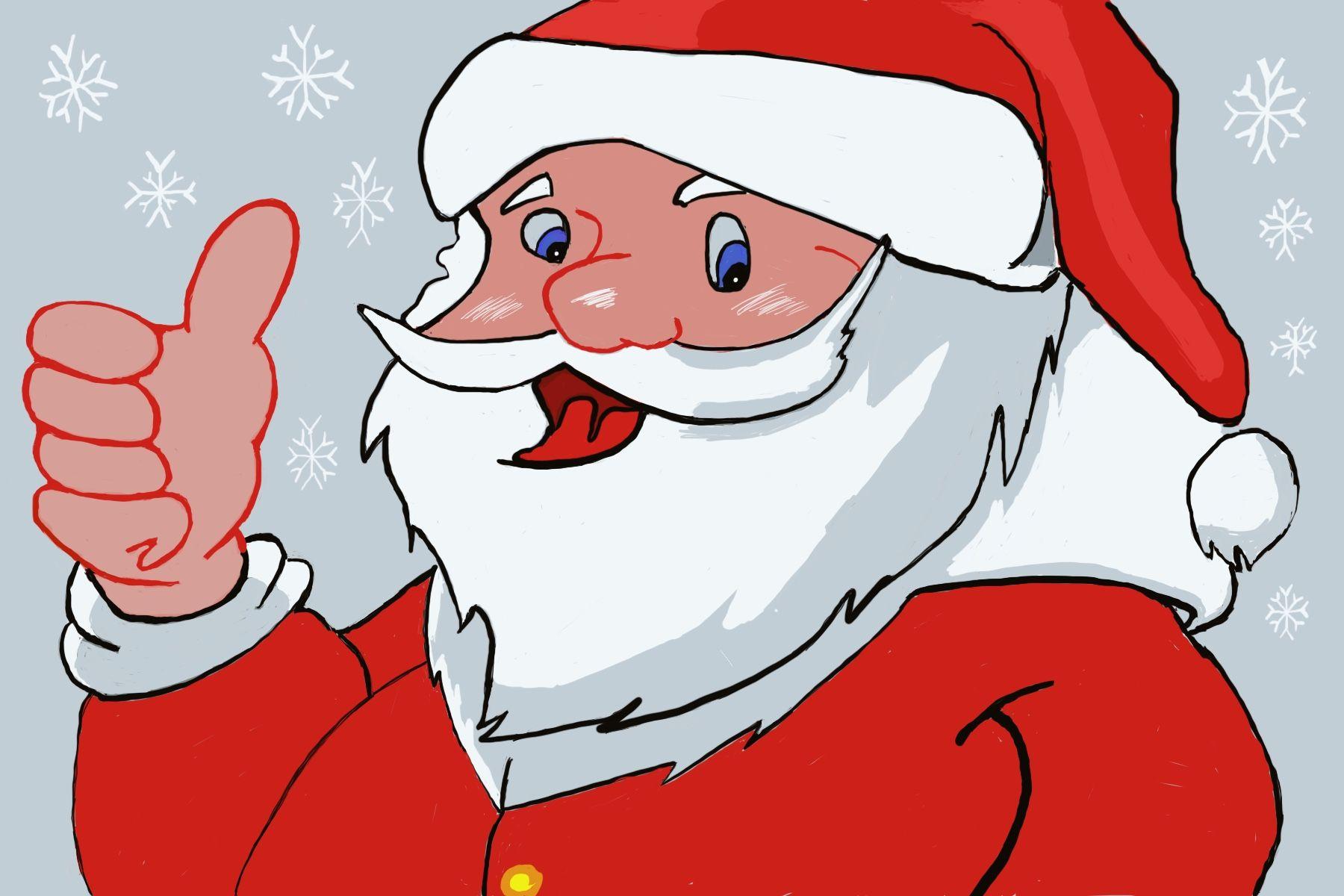 Santa drawing using procreate | Disney characters ...