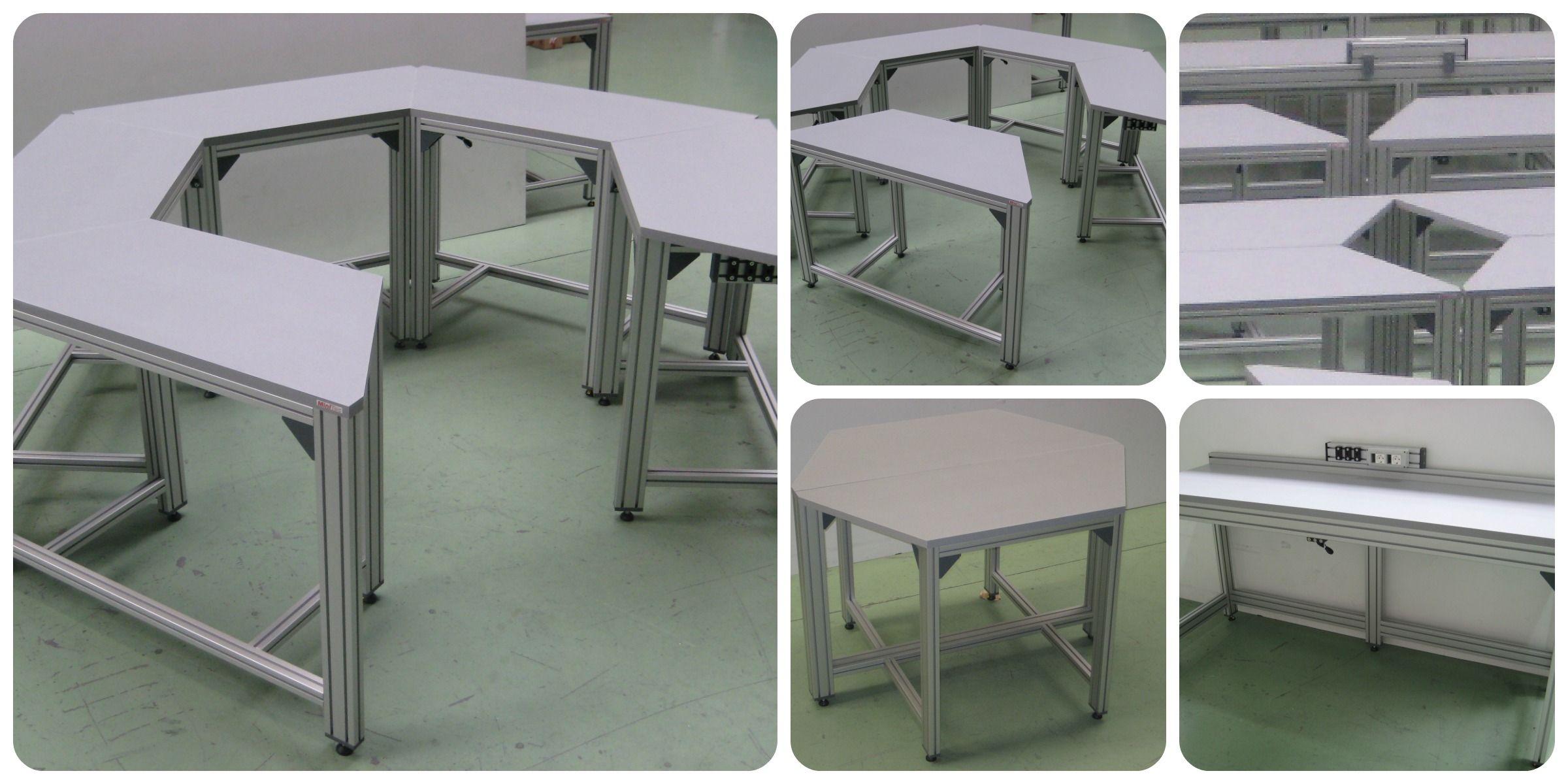 Mesas En Perfil De Aluminio Estructuras De Aluminio