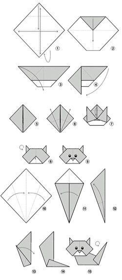 Bookmark Corner Origami Animal Pinterest Origami Origami Cat