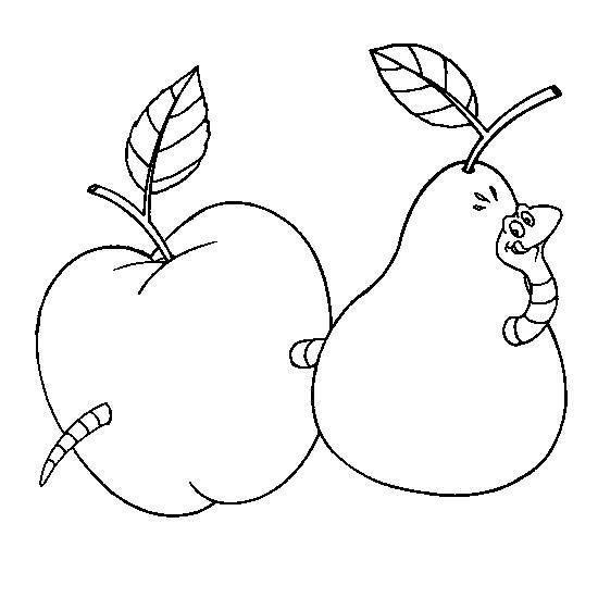 kleurplaat appel en peer insecten downloads jufsanne