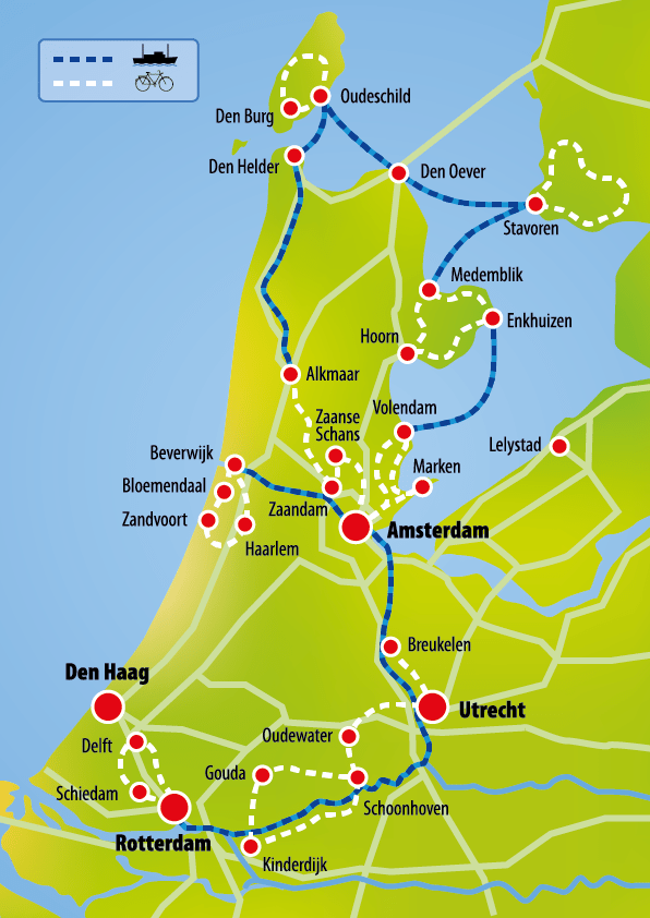 Holland: Grand tour of Holland | MS Angela Esmee | Boat Bike Tours ...