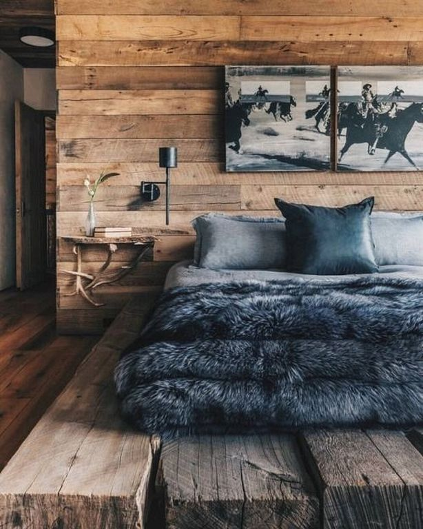 20 Simple Rustic Bedside Table Designs For Bedroom