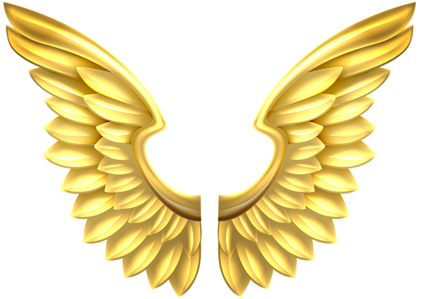 Gold Wings Transparent Png Clip Art Image Angel Wings Clip Art Art Images Clip Art
