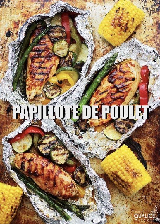 Papillote de Poulet | Recette camping, Repas camping, Recettes de cuisine
