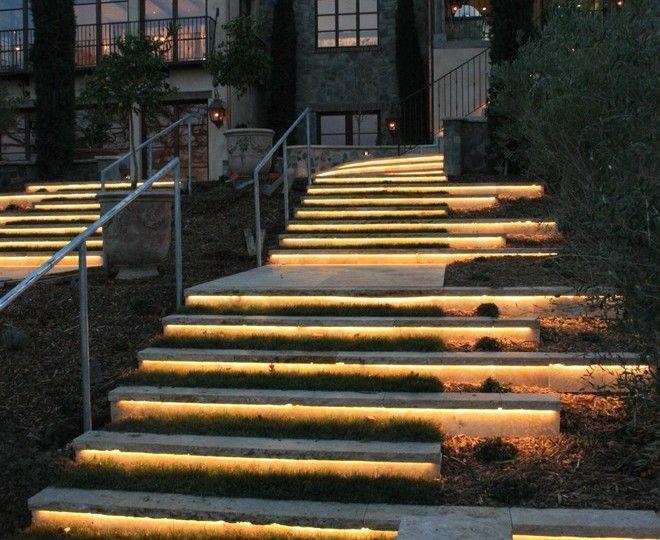 Pretty Led Strip Lights Vogue San Francisco Mediterranean Landscape Decorators With Exterior