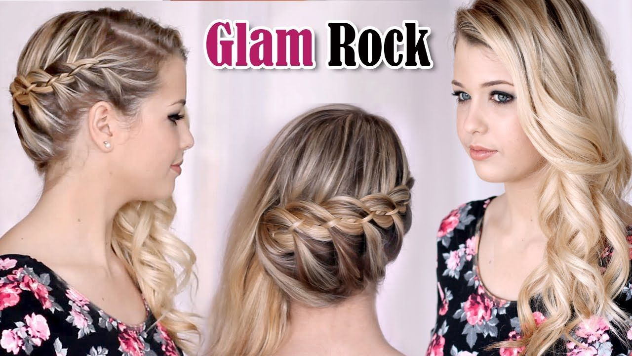 Glamorous french strand braid with curls could also do a