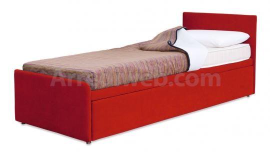 Letto con doppio letto estraibile m1560 letti lit for Doppio letto estraibile