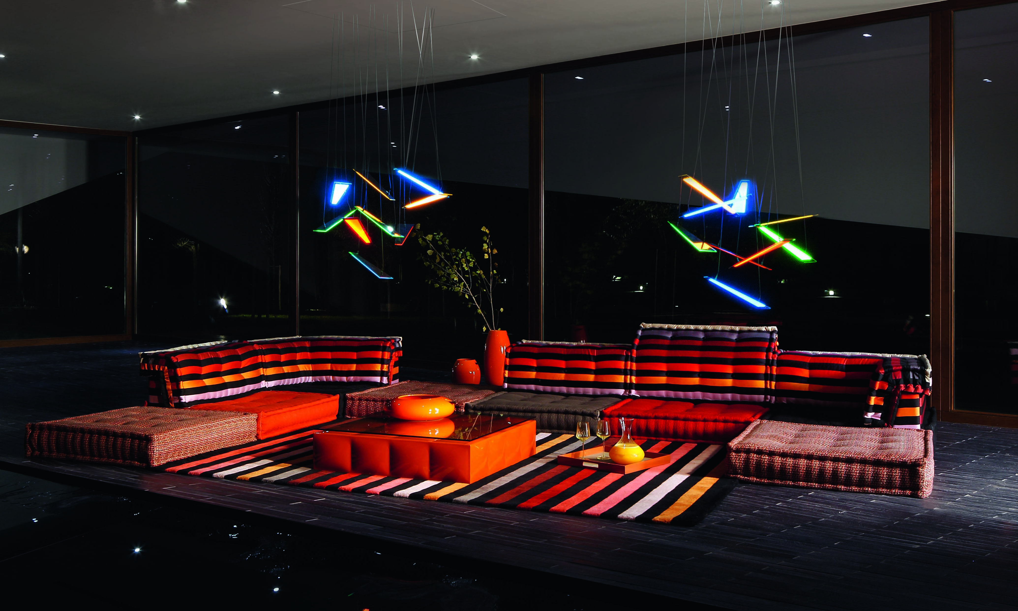 Roche Bobois Mah Jong Modular Sofa Upholstered In Sonia Rykiel