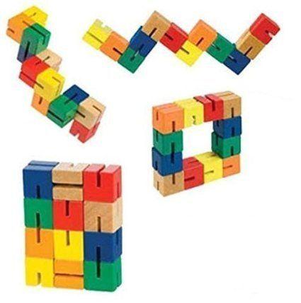 Twisty Wooden Blocks Mini Puzzle Twisty Fidget Sensory Toy Majigg