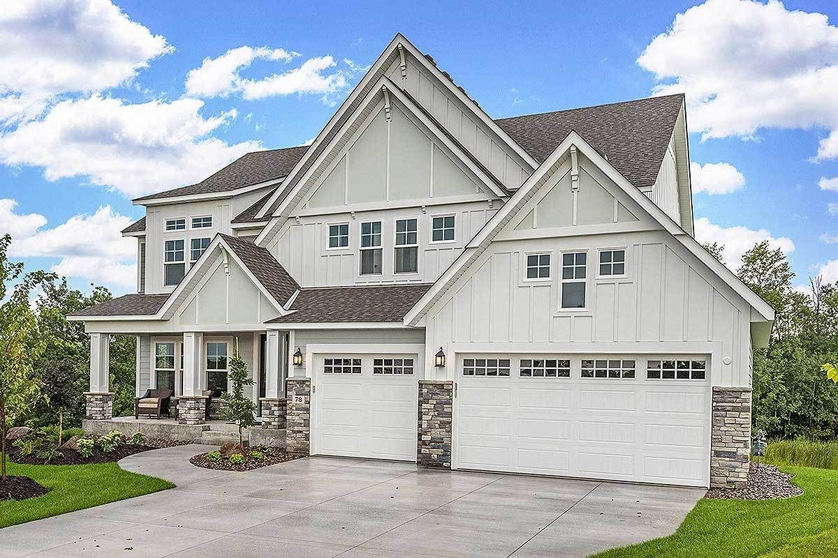 Plan 73381hs Exclusive Modern Craftsman Farmhouse With Welcoming