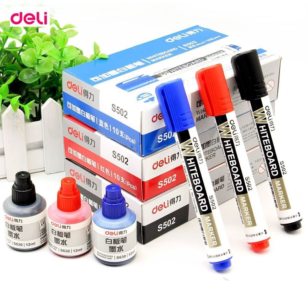 Deli School Amp Office Supplies Black Red Blue 2 0mm Dry Erase Markers Chancery Refilling Add Oil Ink Whit Office Supplies Black Whiteboard Marker Marker Pen