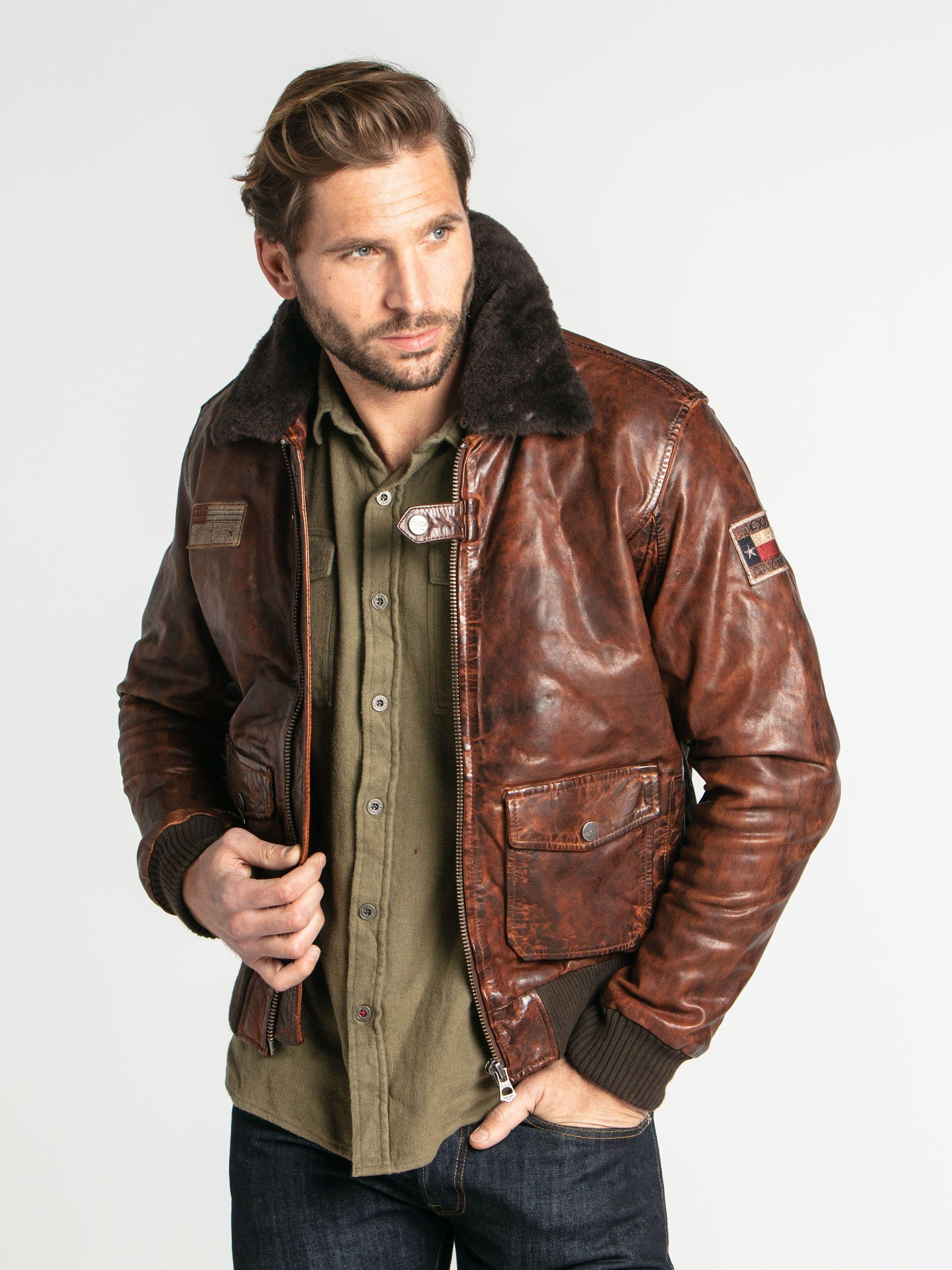 Blouson Aviateur Vintage Cuir Homme Douglas Adventurous Men Leather Jacket Instagram Inspiration