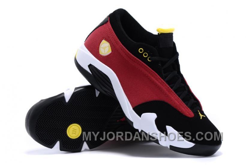 da17e441ce4 Air Jordan 14 XIV Retro Low NBA 2K16 Red Black Maize For Sale Online ...
