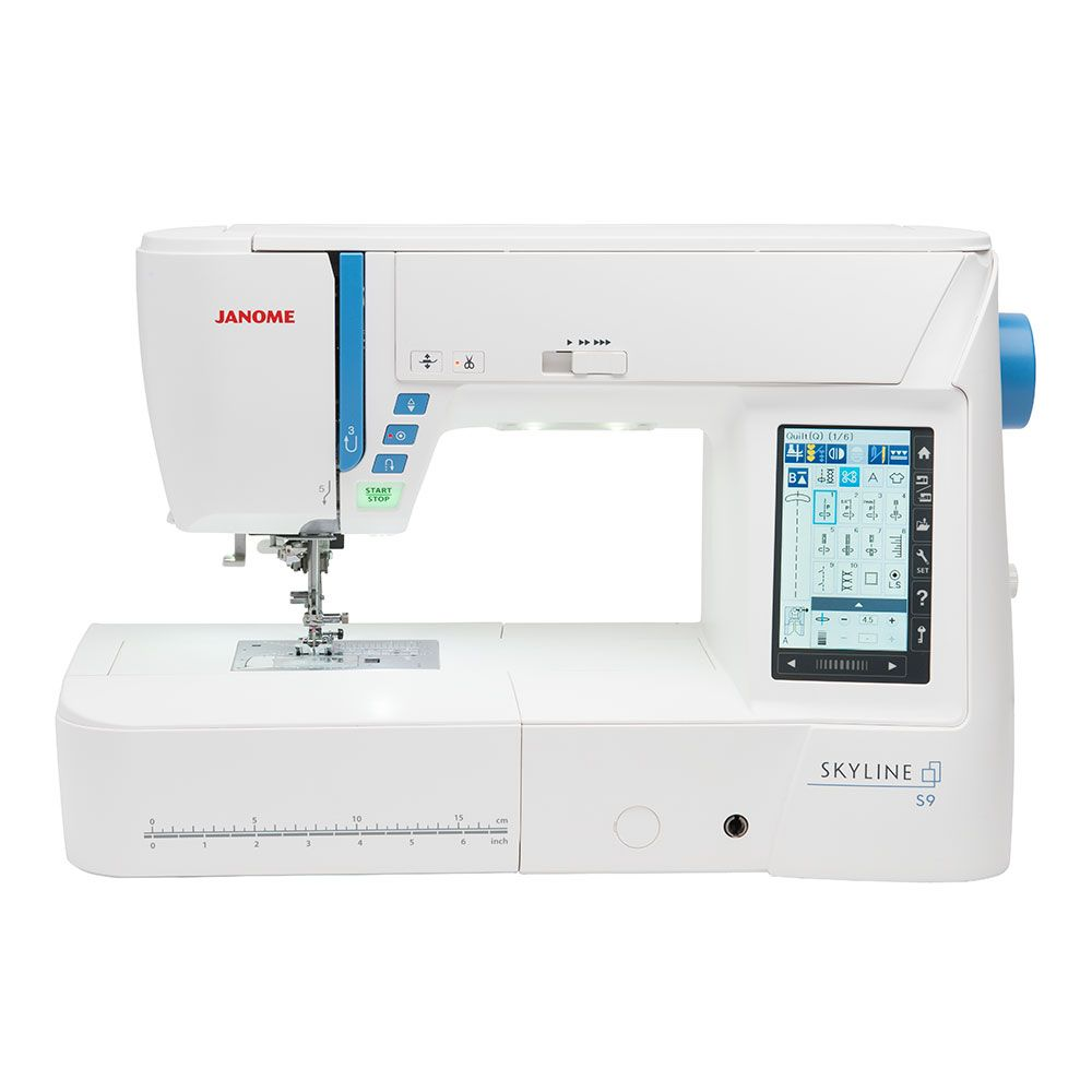 The Janome Skyline S9 is the first embroidery model in it's series ... : sewing machines for quilting and embroidery - Adamdwight.com