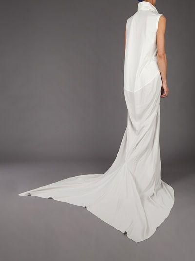 Rick Owens Maxi Dress In White Lyst