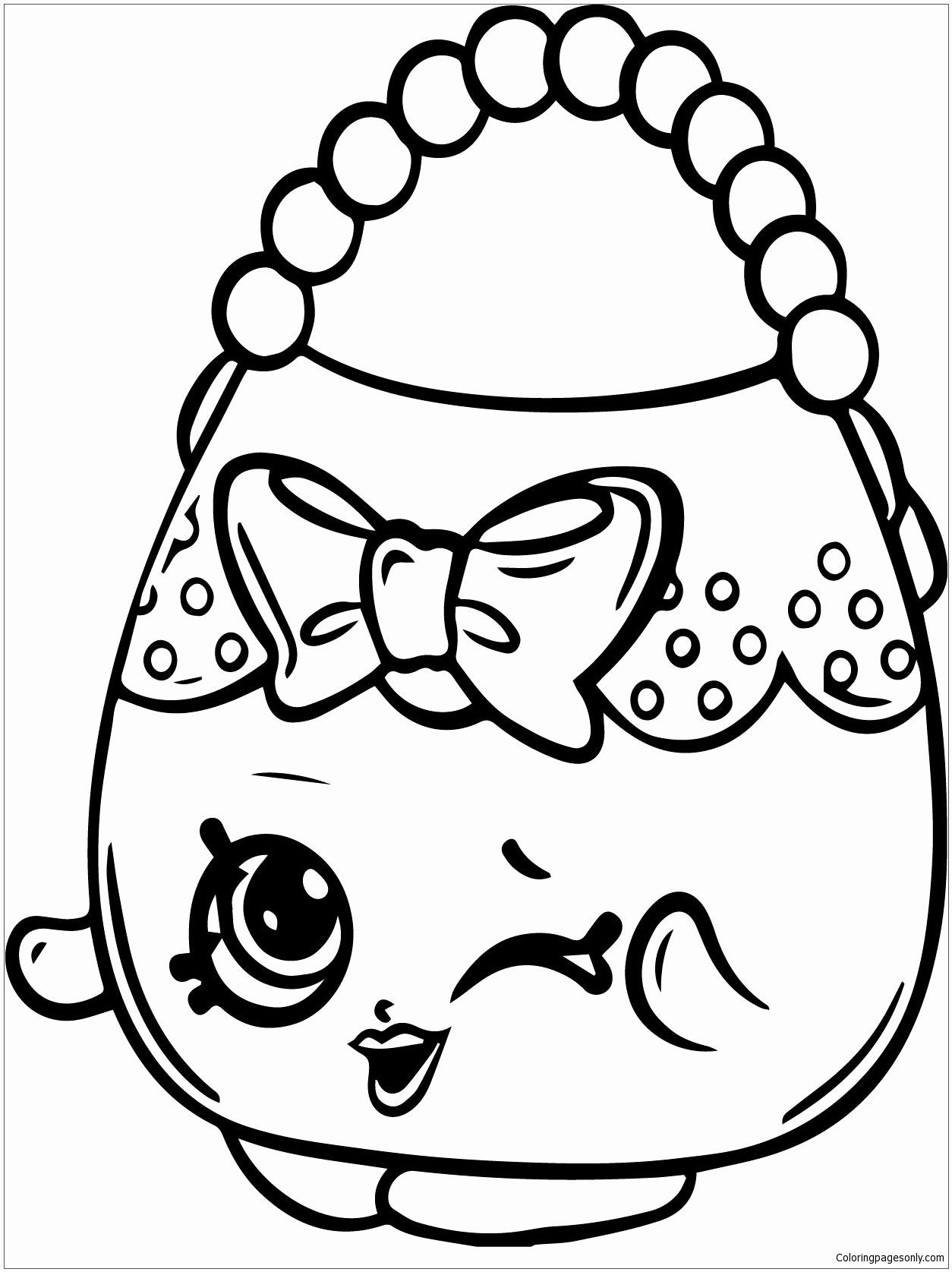 Free Printable Shopkins Coloring Sheets Beautiful Purse Coloring