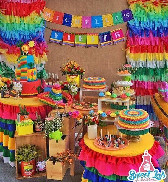 1048d7f032b0f Mesa de postres con tema mexicano