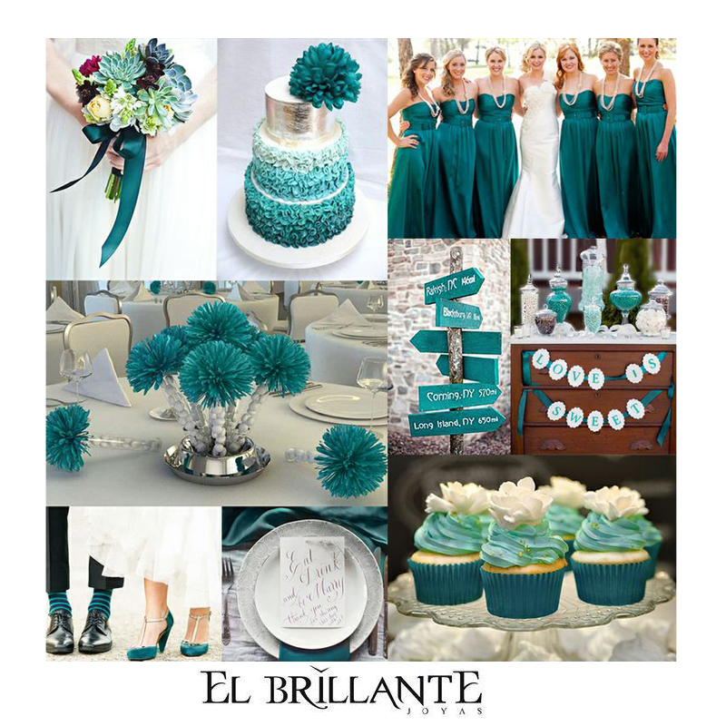 Teal Wedding Color Is My Favorite But I D Want Diffe Shades Of This Too Much One For Me