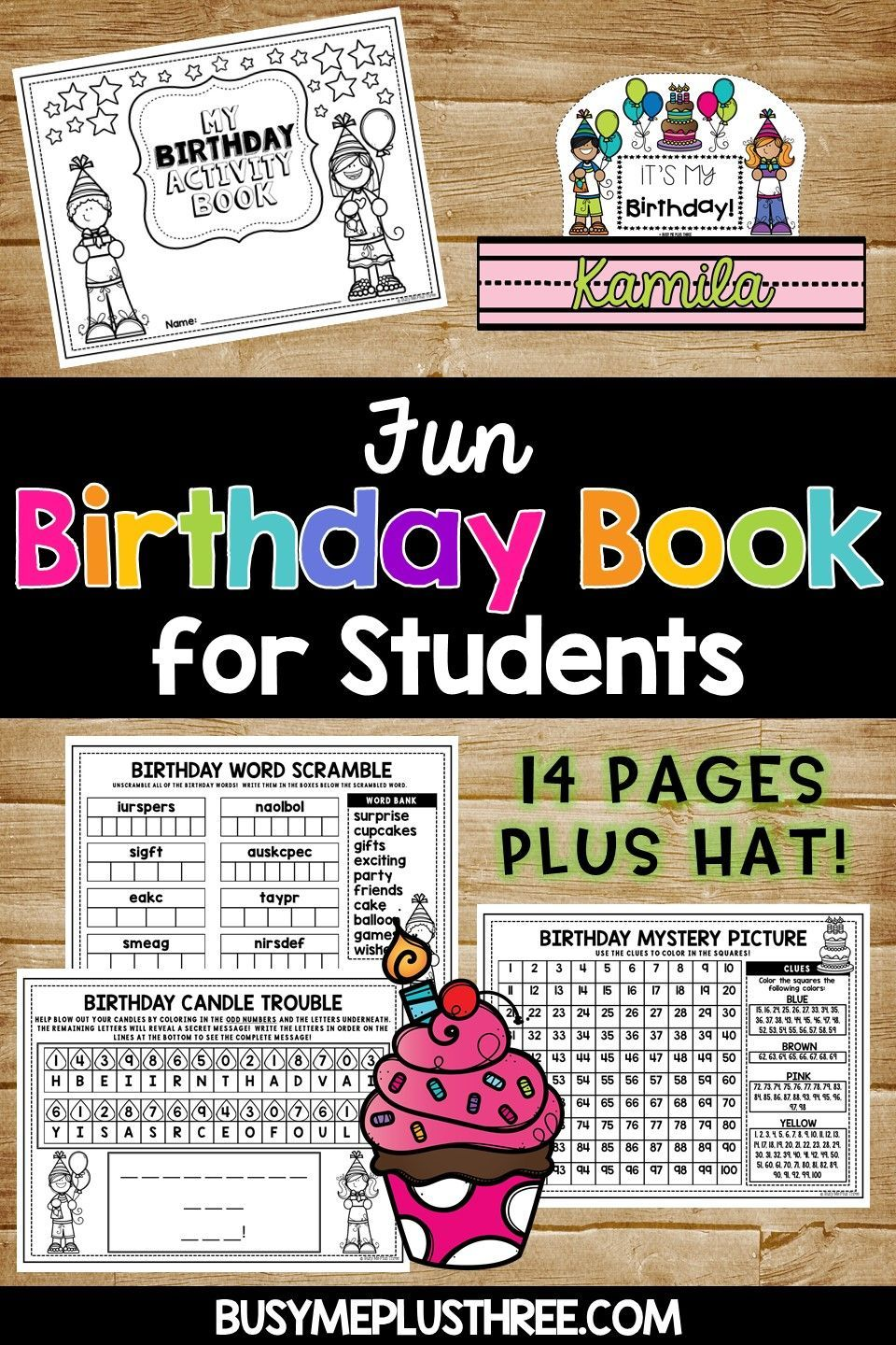Are You Looking For A Fun Birthday Gift To Give Your Students This No Prep Printable Is PERFECT It Includes Word Search Maze Color Sheets Games