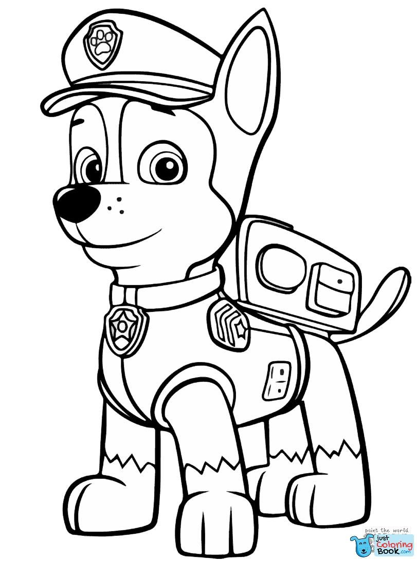 Quatang Gallery- Paw Patrol Chase Coloring Page Free Printable Coloring Pages Within Pets Chasing Each Other Col Paw Patrol Coloring Pages Paw Patrol Coloring Chase Paw Patrol
