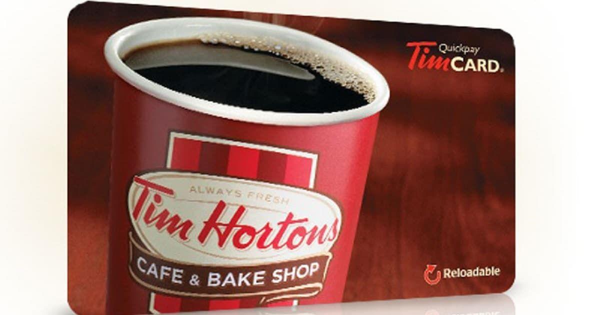 Carte Cadeau Tim Horton.Carte Cadeau Tim Hortons De 50 A Gagner Meubles Palette