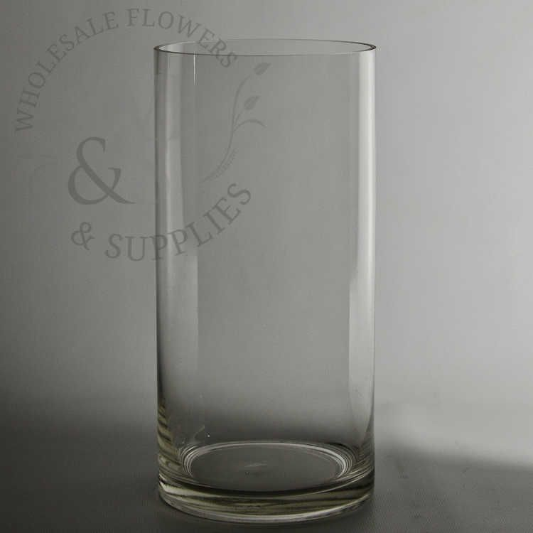10 X 4 Clear Glass Cylinder Vase At Wholesale Discount Prices