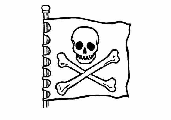 kleurplaten piratenvlag