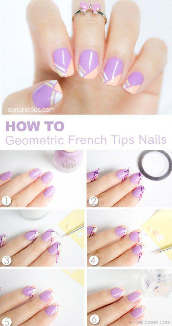 French Tips Nail Design Tutorial | !! Nails Art ---- Nails Design ...