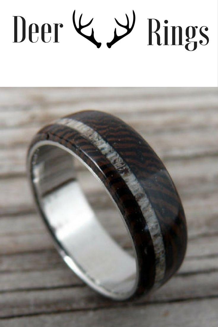 Mens Dark Wood Deer Antler Wedding Ring My Future Husband Would Love One Of These Handcrafte Deer Antler Wedding Rings Antler Wedding Rings Mens Wedding Rings