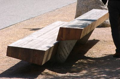 Trapecio Bench designed by Antonio Montes and Montse Periel #Santa