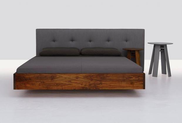 Amerikanischer Nussbaum Und Taupe Doppelbett Design Bett Holz Bett Ideen