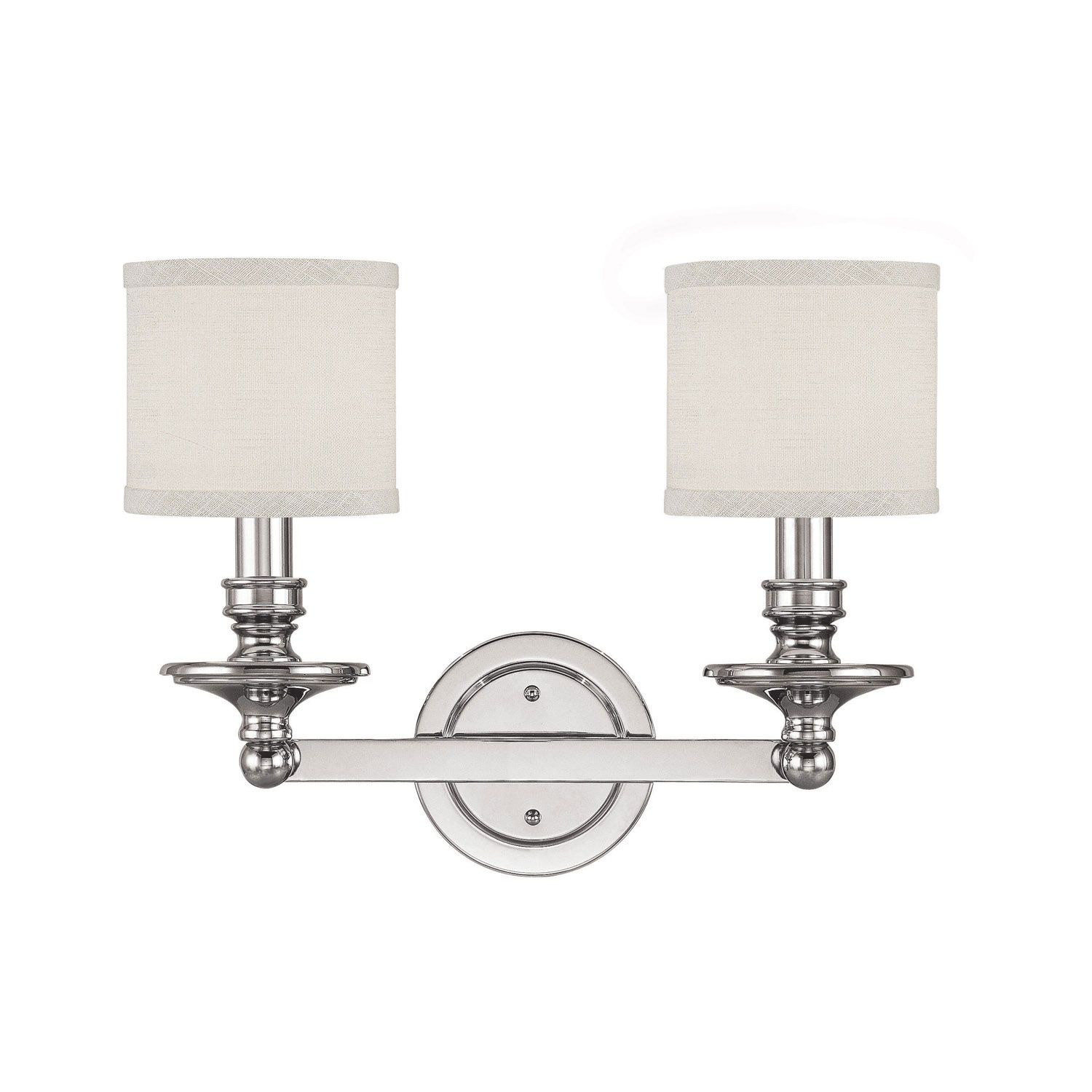 Capital Lighting Fixture Company Midtown Polished Nickel Two Light Bath On SALE