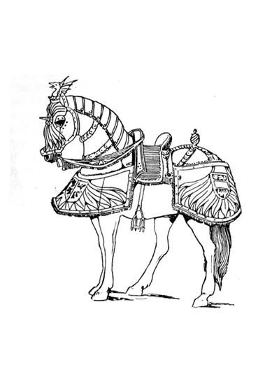 Armored Horses Coloring Page Horse Coloring Pages Adult