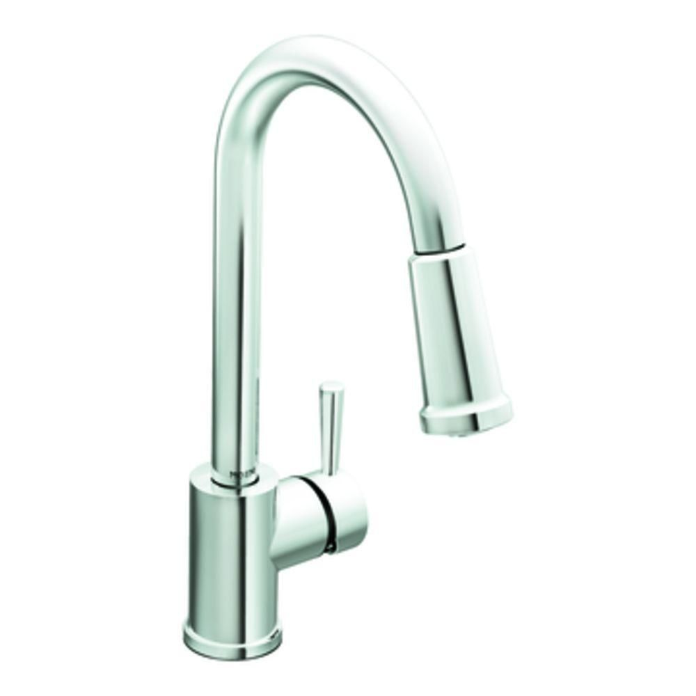 Discontinued Moen Kitchen Faucets.238 In Brushed On Db Moen Level Single Handle Pull Down