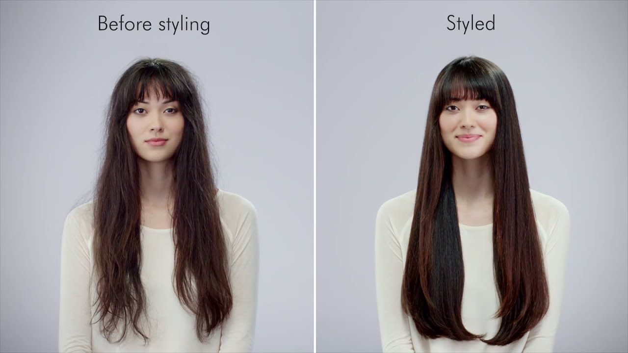 Smooth And Straighten With Dyson Airwrap Silky Hair Different Hair Types Straight Hairstyles