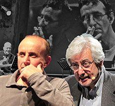 """Lo spettacolo """"Anatomia degli eroi"""" con Bruno Arpaia e Giuseppe Cederna accompagnati dalle musiche dal vivo eseguite da Alberto Capelli."""