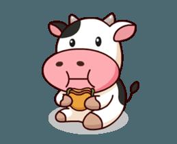 Momo Cow Animate Sticker Sticker 12398809 Cow Wallpaper Cow Cartoon Drawing Cute Cows