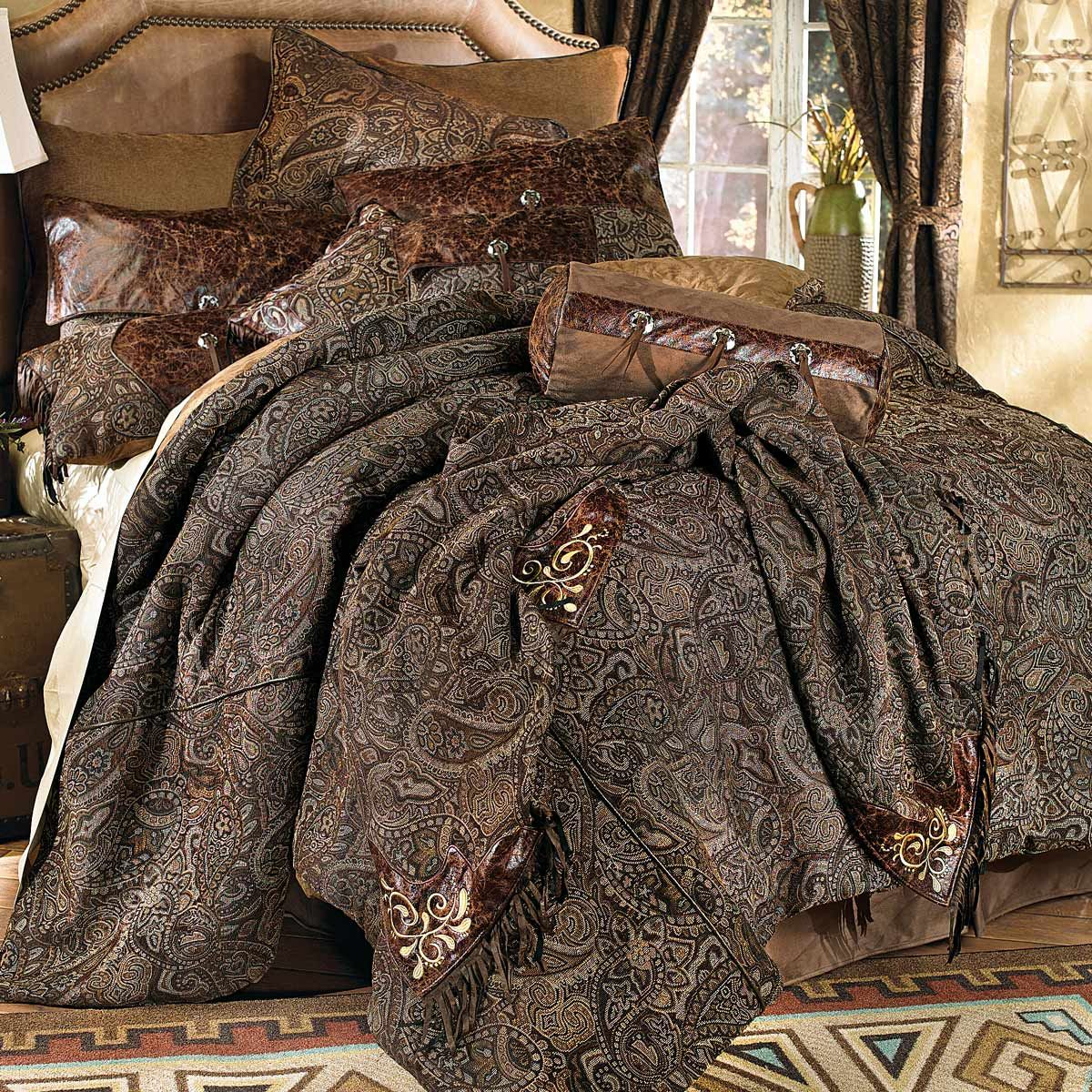 Western Paisley Beaumont Bed Set Queen Bed sets Bedrooms and