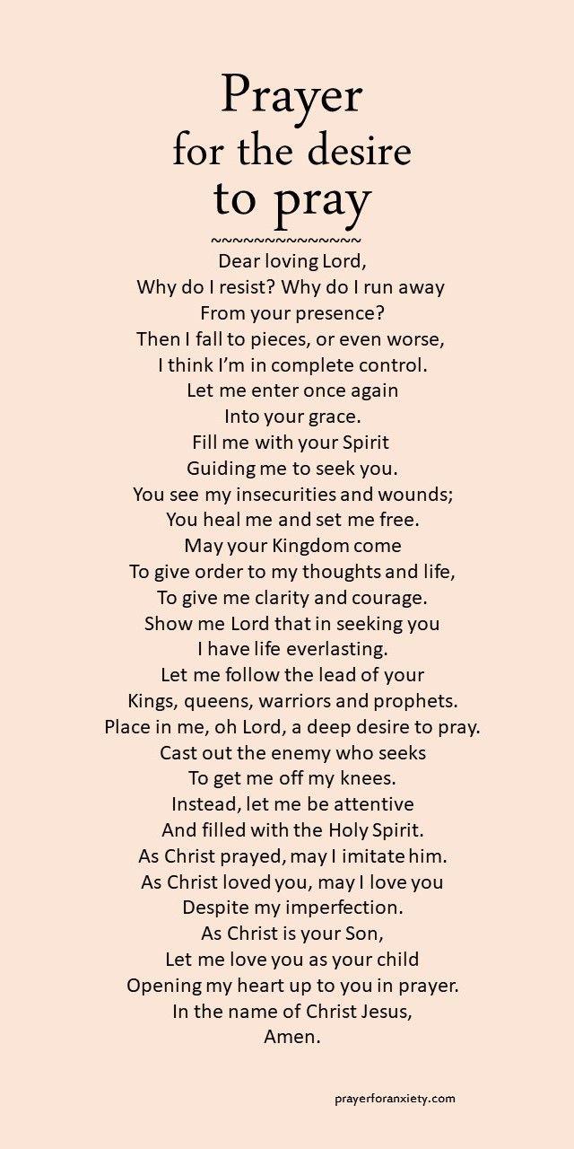 Prayer for the desire to pray
