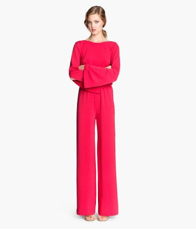 0b51b79be41 H M Wide-cut Jumpsuit  49.95. bright pink long sleeve ...