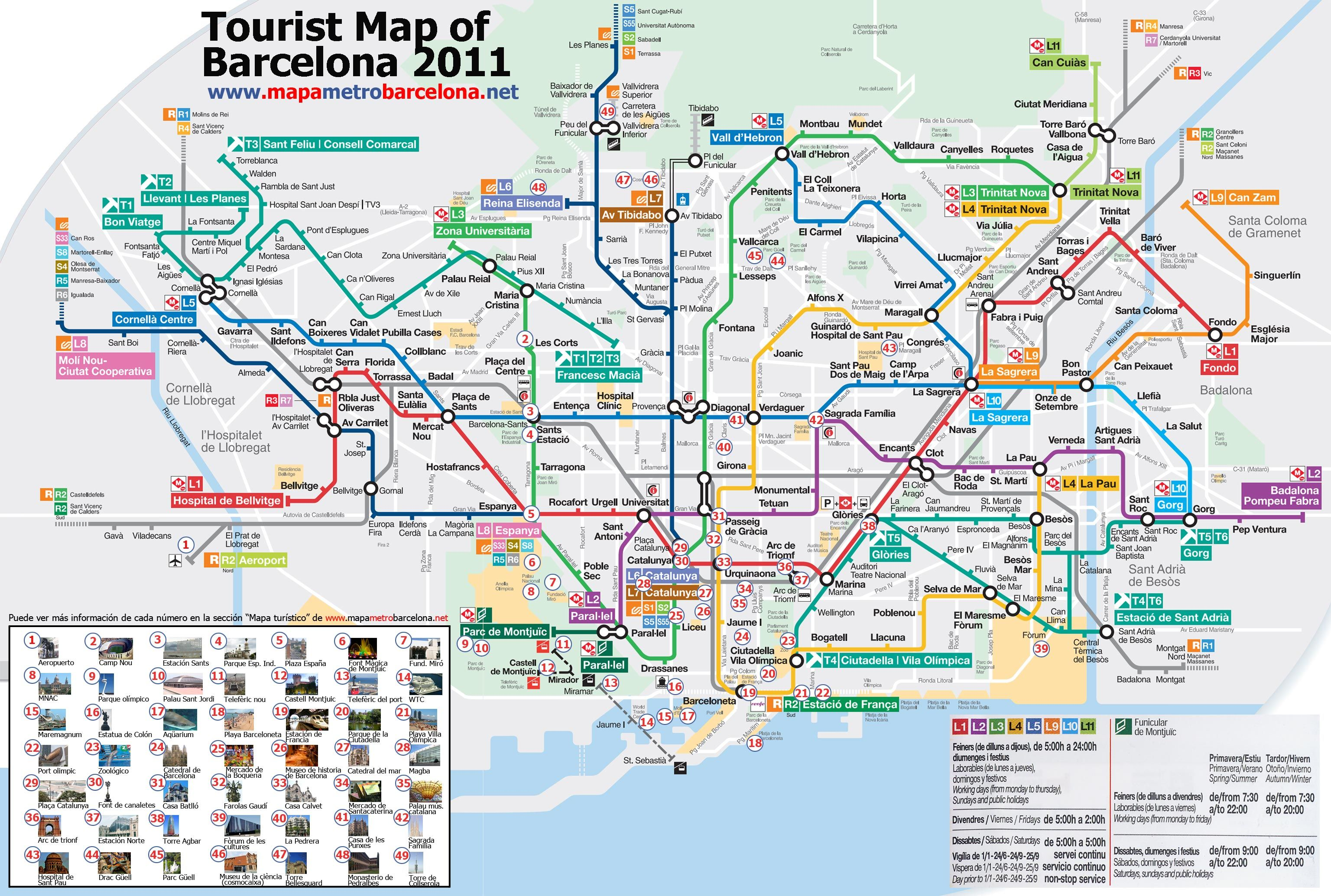 Tourist Map Of Barcelona Tourist Map Of Barcelona 49 Important