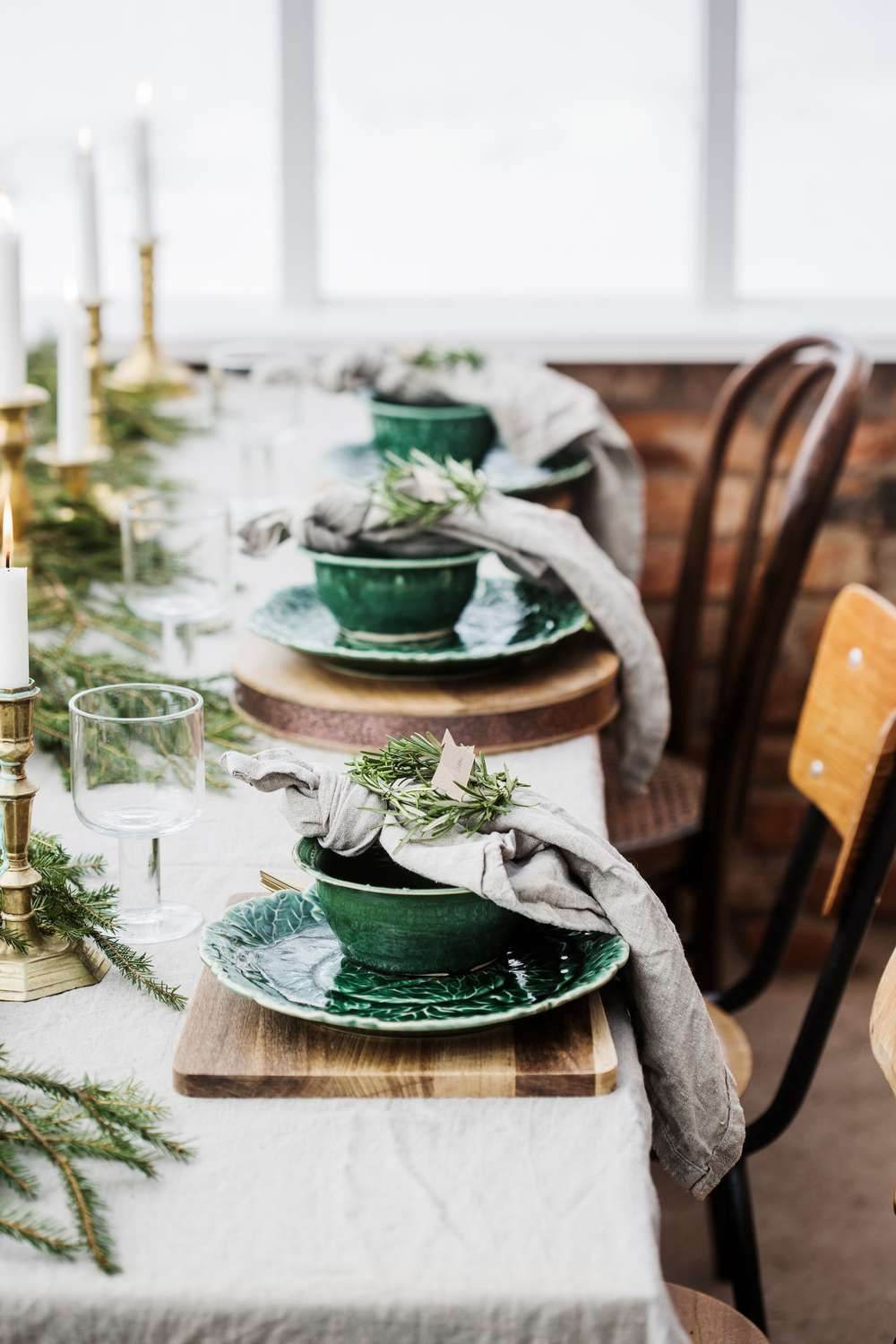 A Scandinavian Style Dinner In A Greenhouse Coco Kelley Christmas Table Decorations Christmas Table Table Settings