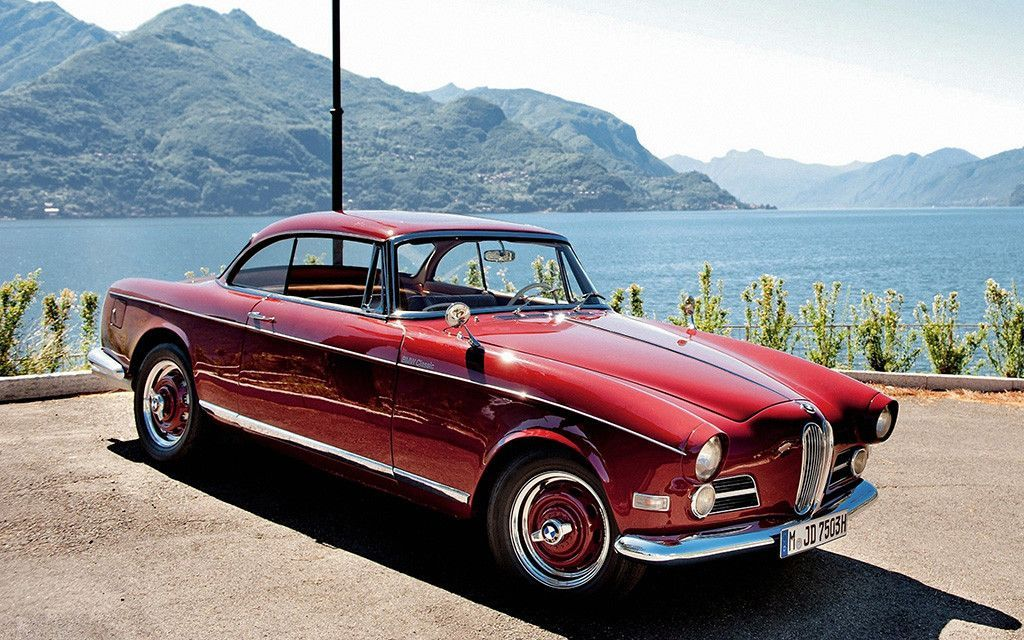 Old Retro Red Car BMW 503 1956 Poster | BMW, Cars and Sports cars