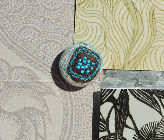 Magnets gift set fabric embroidered felt stitched by GabiDesignLLC