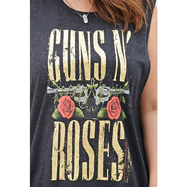 b31c26d1 FOREVER 21+ PLUS SIZES Guns N Roses Muscle Tee (66 AED) ❤ liked on ...