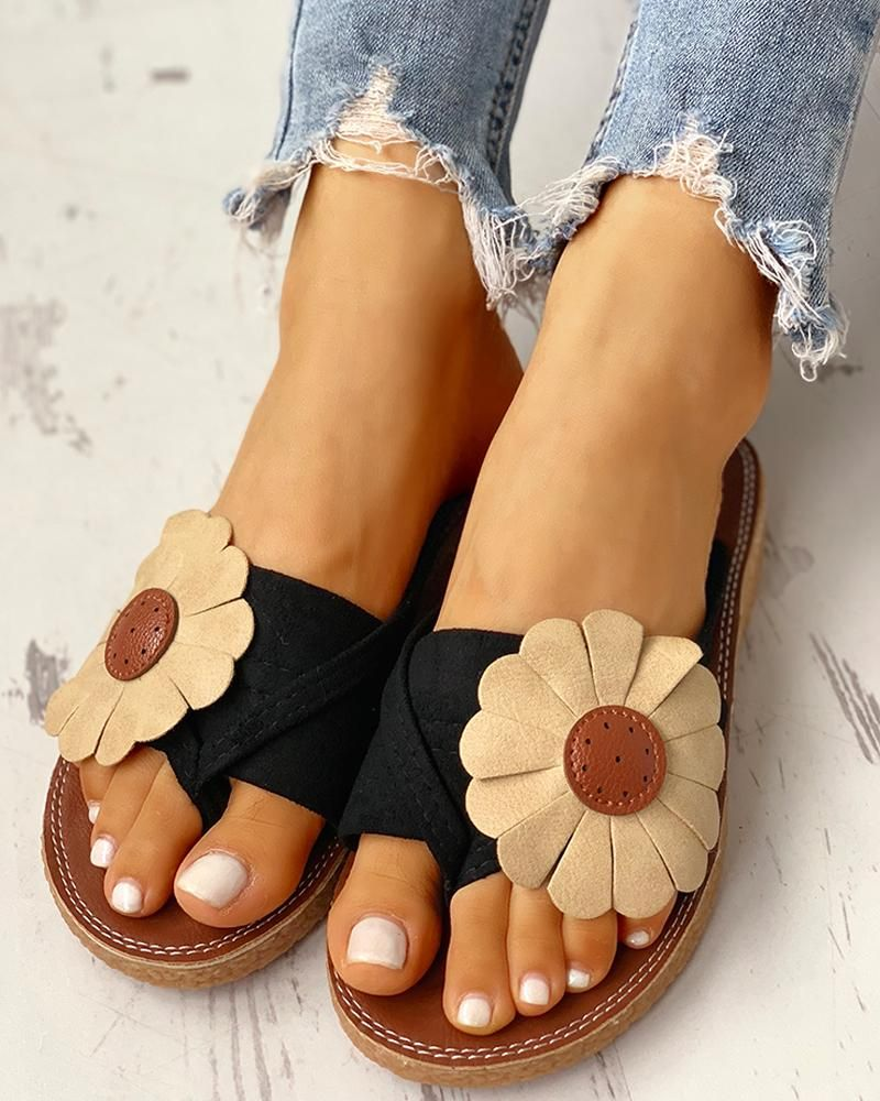 Toe Post Flower Design Flat Sandals is part of Flower sandals, Sandals heels, Flat sandals, Shop sandals, Women shoes, Womens sandals - StyleBrief Pattern TypeSolid MaterialSuede OccasionCasual Package Include1Sandals Heel Height Note There might be 23% difference according to manual measurement  Please check the measurement chart carefully before you buy the item    +Please note that slight color difference should be acceptable due to the light and screen  coloryellow sizeUS8 5,US4 5,US6,US8