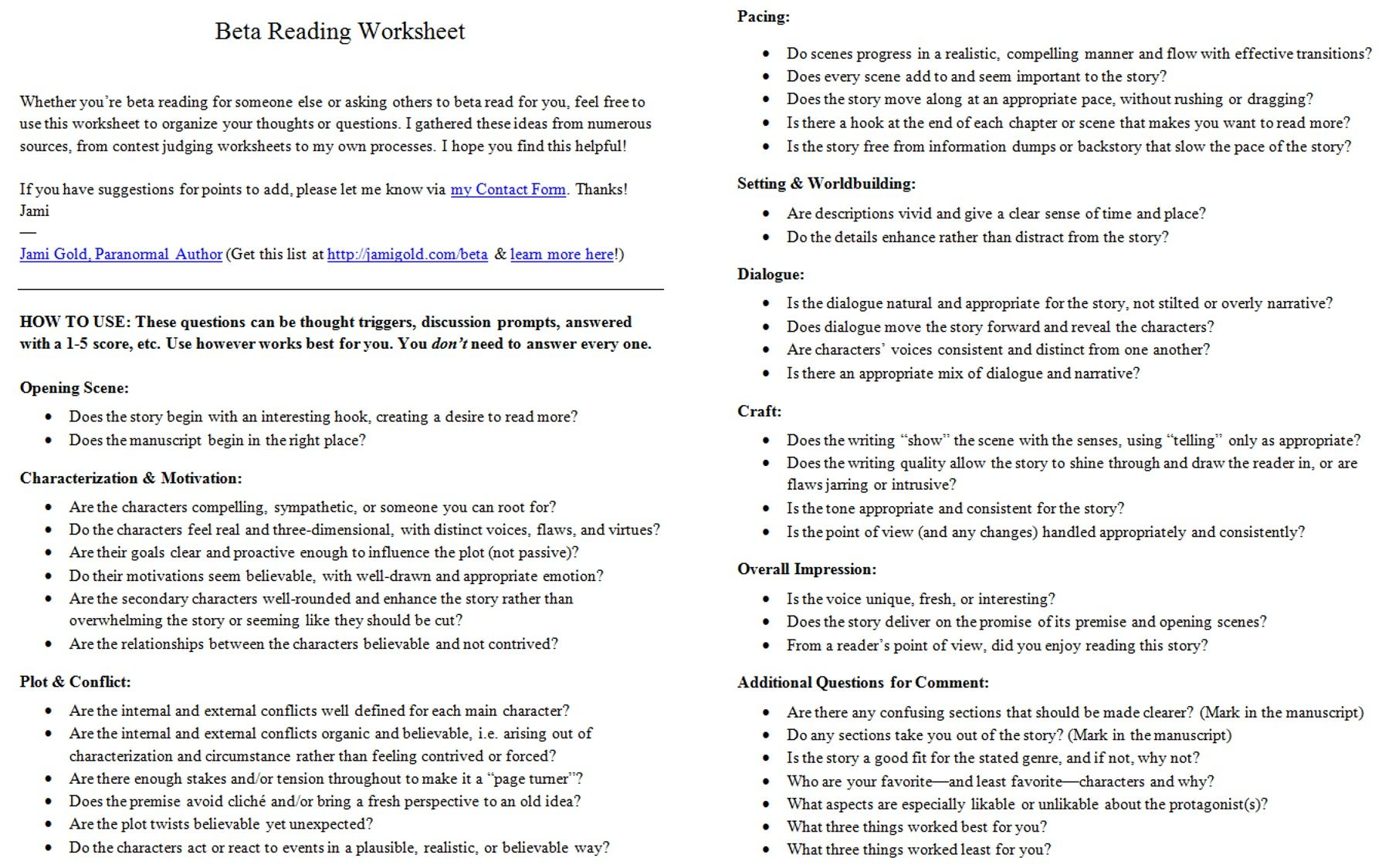 Beat Sheet Basics Know Your Story S Structure