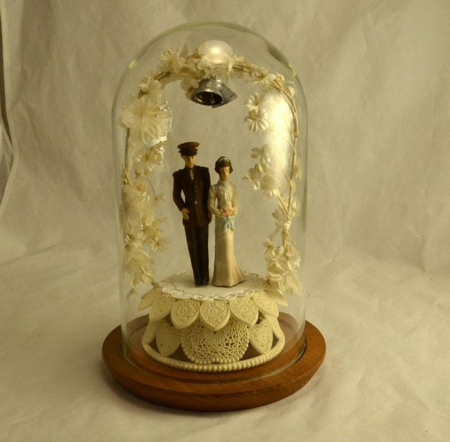 Wedding Cake Topper WWII Military - Preserved under Glass Dome ...
